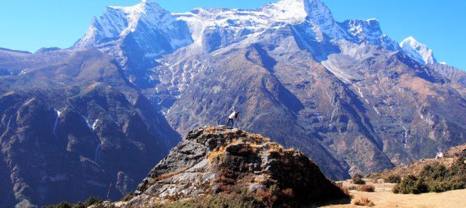 舞踏32 エベレストトレッキング ナムチェ シャンボチェの丘での舞踏