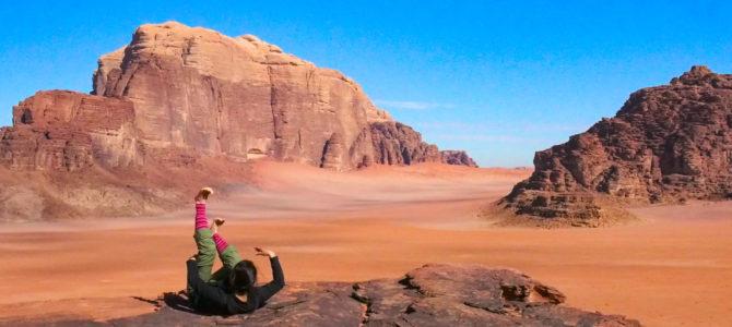 舞踏39 ヨルダン ワディ・ラム自然保護区 岩山の上での舞踏