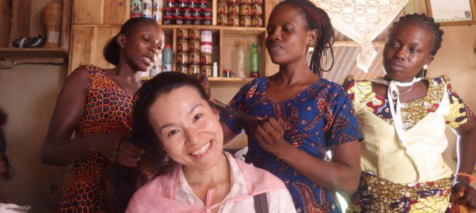 旅記事364 ベナンの田舎でホームステイと、髪の毛を結ってみた。